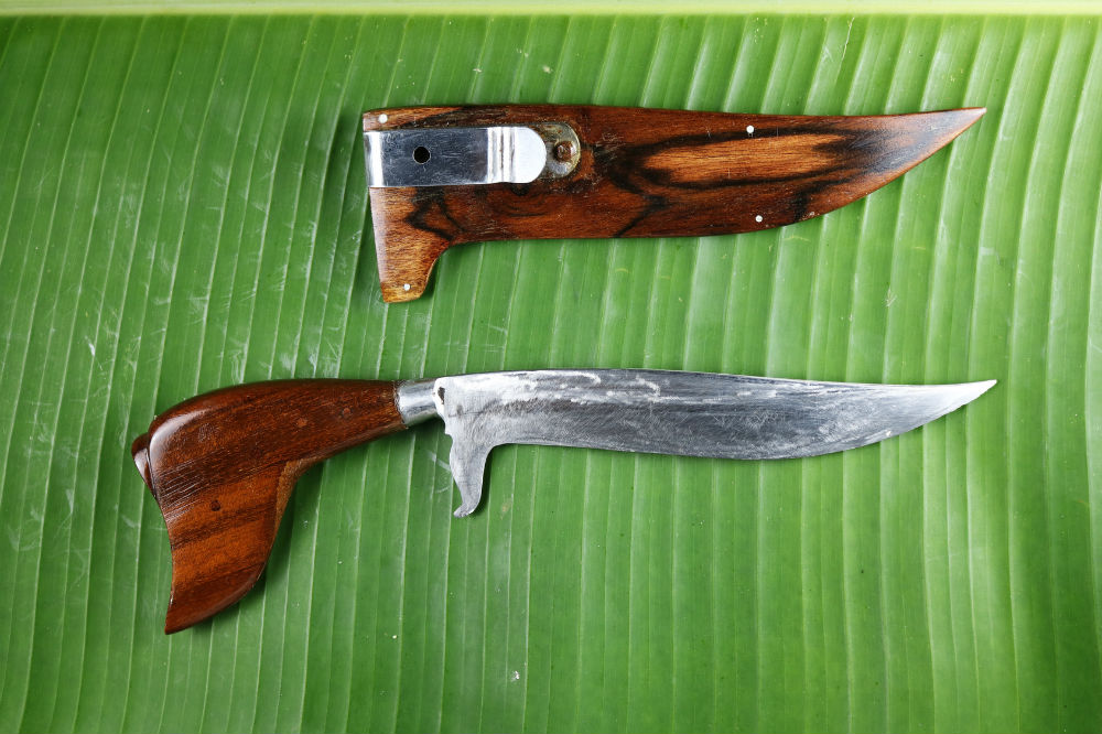 DKC-42 OTTER Tanto Fixed Damascus Hunting Knife