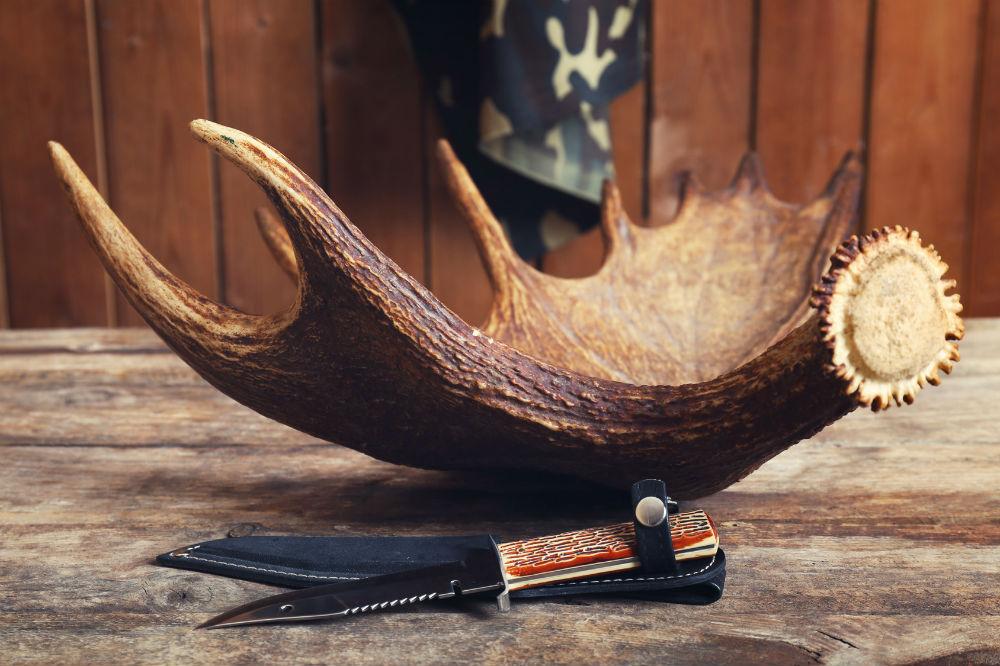 Knife King Janus Damascus Handmade Hunting Knife