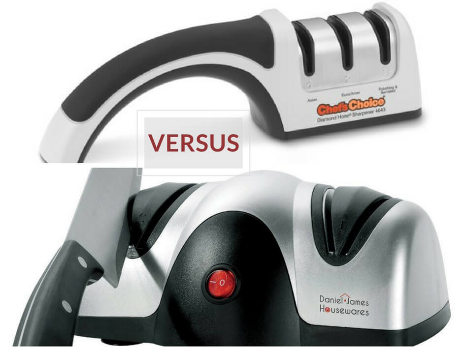 Electric Knife Sharpener Versus Manual Sharpener